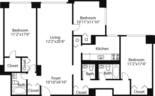 3 Bedrooms, Rose Hill Rental in NYC for $7,150 - Photo 2