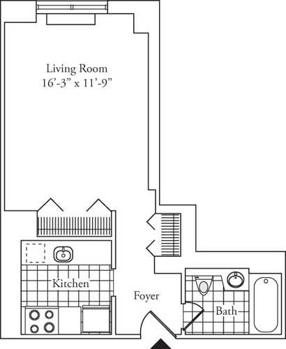 Studio, Upper West Side Rental in NYC for $2,987 - Photo 2