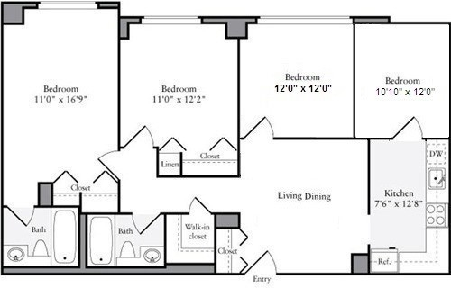 3 Bedrooms, Manhattan Valley Rental in NYC for $4,850 - Photo 2