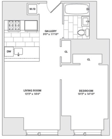 1 Bedroom, Financial District Rental in NYC for $3,080 - Photo 2