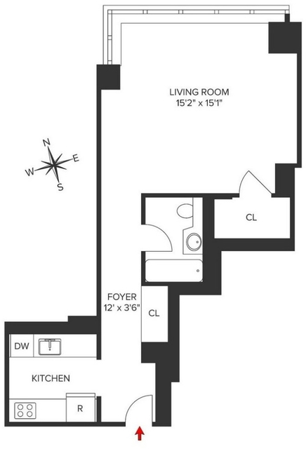 Studio, Turtle Bay Rental in NYC for $3,250 - Photo 2