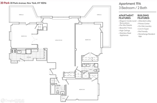 3 Bedrooms, Murray Hill Rental in NYC for $10,900 - Photo 2