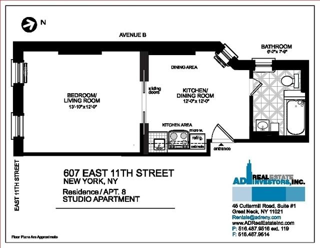 1 Bedroom, Alphabet City Rental in NYC for $2,499 - Photo 2