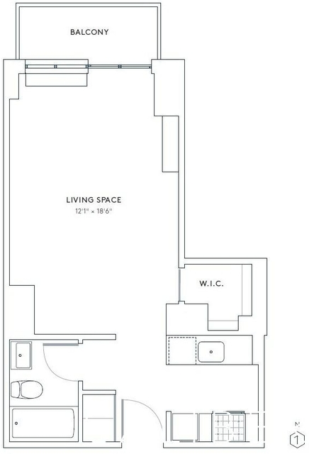 Studio, Hell's Kitchen Rental in NYC for $2,795 - Photo 2