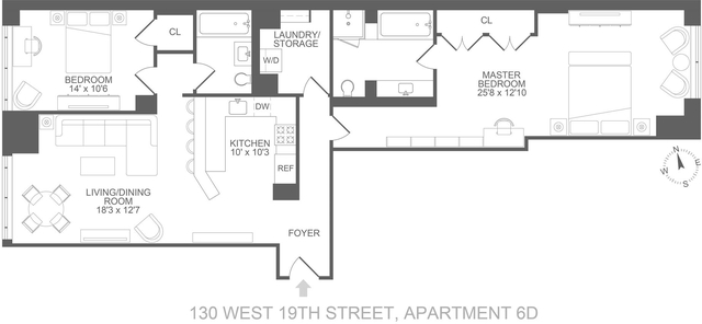 2 Bedrooms, Chelsea Rental in NYC for $8,350 - Photo 2