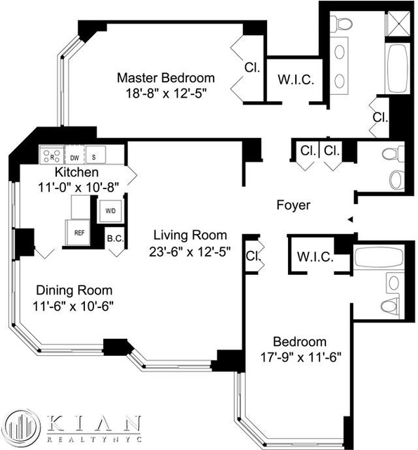 2 Bedrooms, Murray Hill Rental in NYC for $5,695 - Photo 2