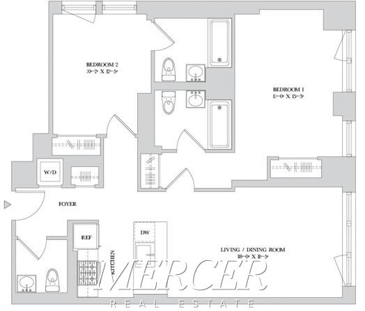 2 Bedrooms, Hell's Kitchen Rental in NYC for $4,992 - Photo 2