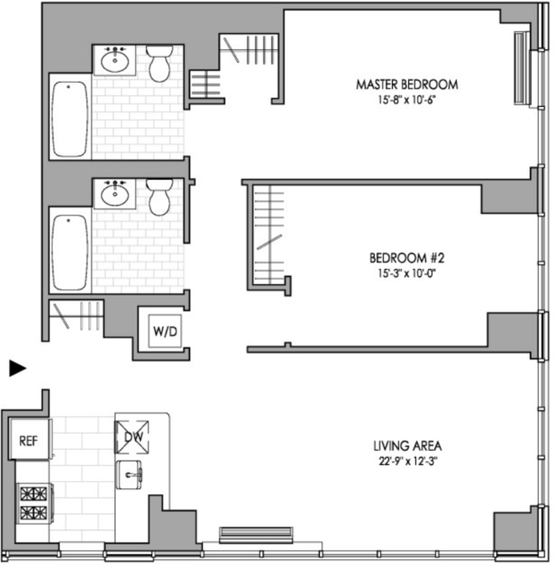 2 Bedrooms, Hell's Kitchen Rental in NYC for $5,699 - Photo 2