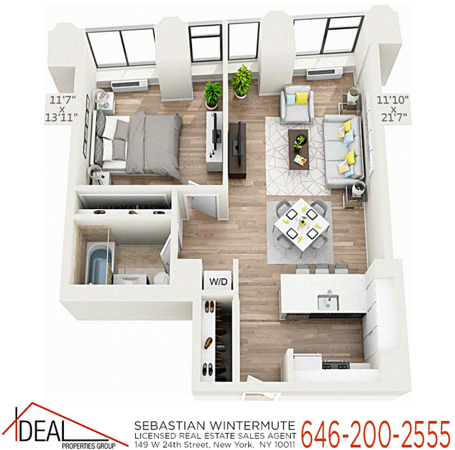 Studio, Financial District Rental in NYC for $4,045 - Photo 2