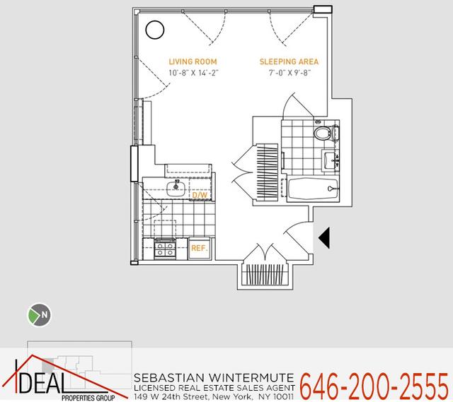 Studio, Manhattan Valley Rental in NYC for $3,560 - Photo 2