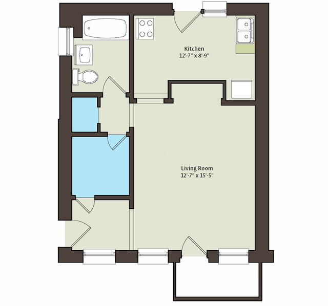 Studio, East Hyde Park Rental in Chicago, IL for $923 - Photo 2