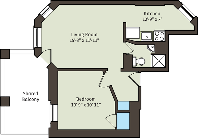 1 Bedroom, Hyde Park Rental in Chicago, IL for $1,244 - Photo 2