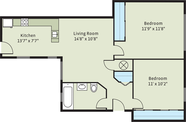 2 Bedrooms, Hyde Park Rental in Chicago, IL for $1,371 - Photo 2