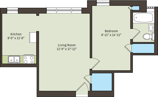 1BR at 5336-5338 S. Hyde Park Blvd. - Photo 8