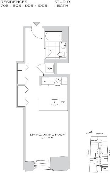Studio, Financial District Rental in NYC for $3,325 - Photo 2
