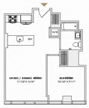 1 Bedroom, Hell's Kitchen Rental in NYC for $4,380 - Photo 2