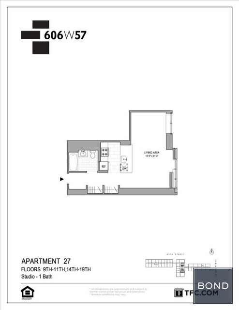 Studio, Hell's Kitchen Rental in NYC for $3,660 - Photo 2