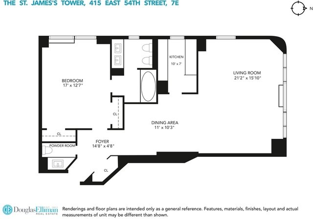 1 Bedroom, Sutton Place Rental in NYC for $5,000 - Photo 2