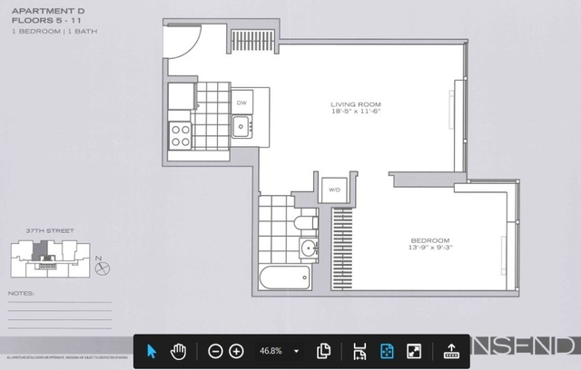 1 Bedroom, Garment District Rental in NYC for $3,675 - Photo 2