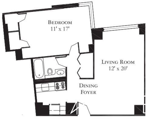 1 Bedroom, Theater District Rental in NYC for $3,375 - Photo 2