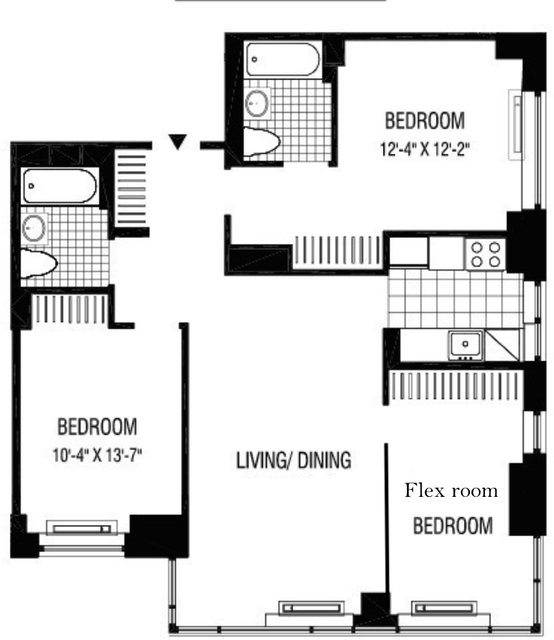 2 Bedrooms, Financial District Rental in NYC for $6,200 - Photo 2