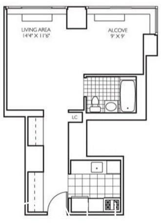 Studio, Theater District Rental in NYC for $3,100 - Photo 2