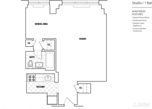 Studio, Rose Hill Rental in NYC for $3,208 - Photo 2