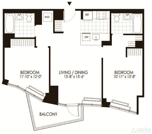 2 Bedrooms, Hunters Point Rental in NYC for $4,327 - Photo 1