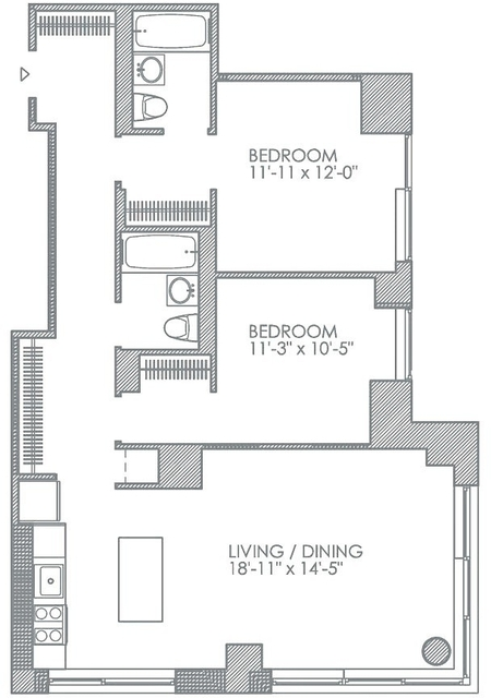 Room, Hell's Kitchen Rental in NYC for $2,100 - Photo 2