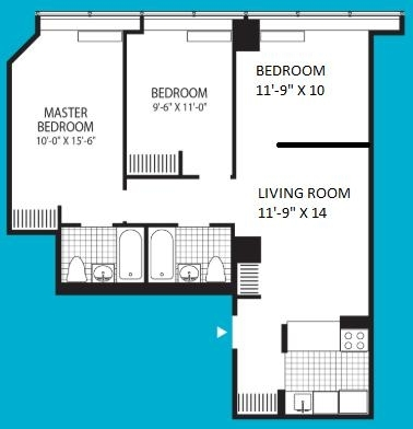 3 Bedrooms, Financial District Rental in NYC for $5,395 - Photo 2
