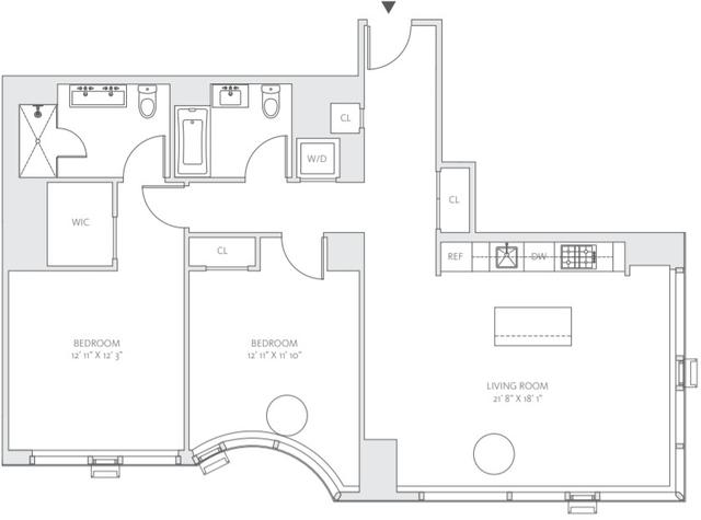 2 Bedrooms, Midtown East Rental in NYC for $7,654 - Photo 2