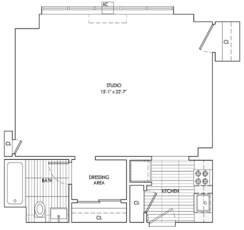 Studio, Sutton Place Rental in NYC for $2,979 - Photo 2