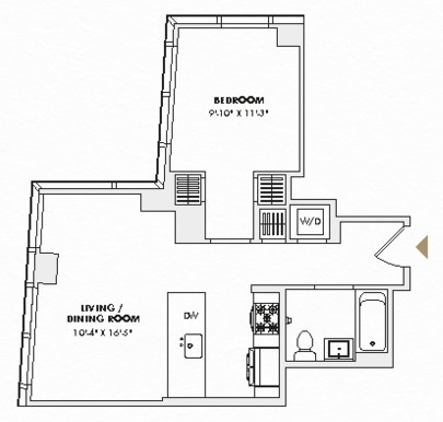1 Bedroom, Hell's Kitchen Rental in NYC for $3,854 - Photo 2