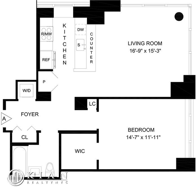 1 Bedroom, Lincoln Square Rental in NYC for $5,822 - Photo 2
