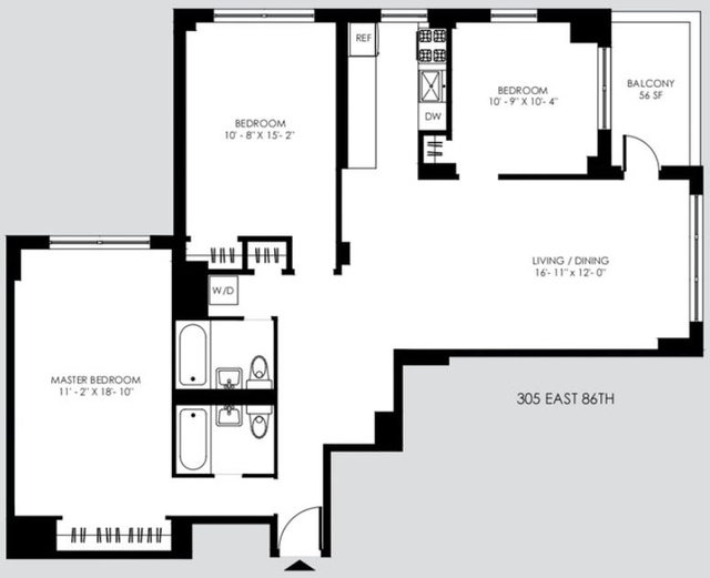 2 Bedrooms, Yorkville Rental in NYC for $6,233 - Photo 2