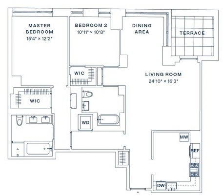 2 Bedrooms, Upper West Side Rental in NYC for $14,500 - Photo 2