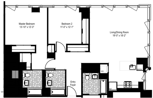 2 Bedrooms, Yorkville Rental in NYC for $8,303 - Photo 2