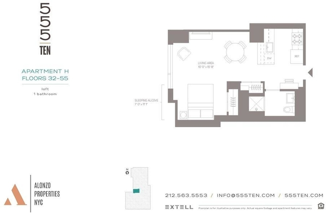 Studio, Hell's Kitchen Rental in NYC for $4,495 - Photo 2