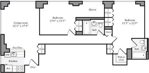 2 Bedrooms, Brooklyn Heights Rental in NYC for $5,724 - Photo 2