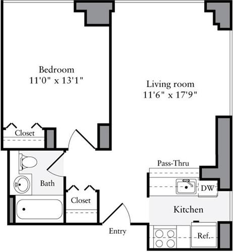 1 Bedroom, Brooklyn Heights Rental in NYC for $3,607 - Photo 2