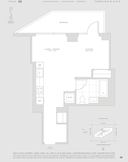 Studio, Turtle Bay Rental in NYC for $4,365 - Photo 2