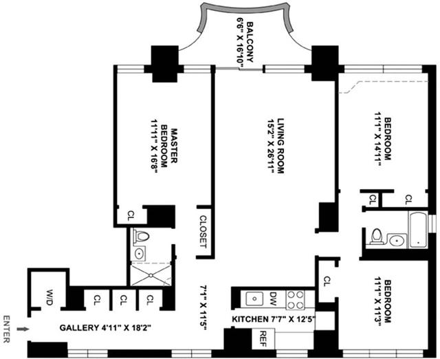 3 Bedrooms, Midtown East Rental in NYC for $6,300 - Photo 2