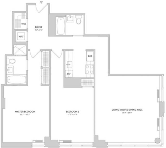 2 Bedrooms, Lincoln Square Rental in NYC for $6,990 - Photo 2