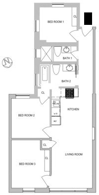 3 Bedrooms, Gramercy Park Rental in NYC for $5,750 - Photo 2