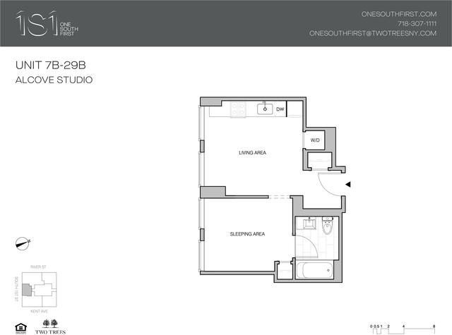 Studio, Williamsburg Rental in NYC for $3,286 - Photo 2
