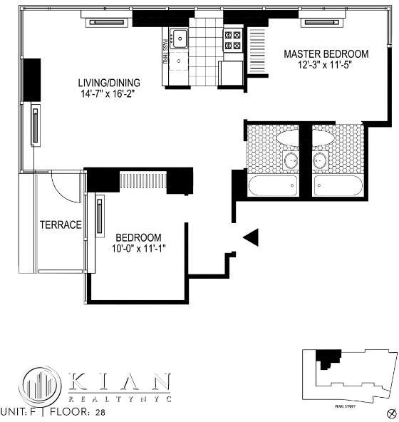 2 Bedrooms, Financial District Rental in NYC for $6,020 - Photo 2