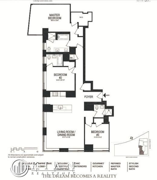 3 Bedrooms, Battery Park City Rental in NYC for $12,727 - Photo 2