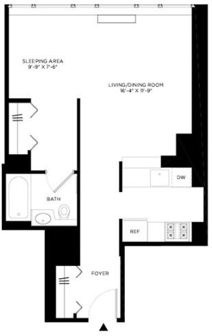 Studio, Hell's Kitchen Rental in NYC for $2,949 - Photo 2