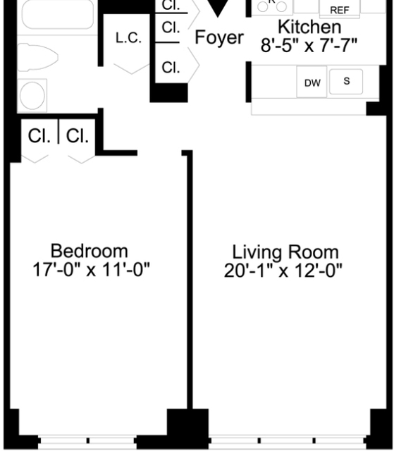 1 Bedroom, Lincoln Square Rental in NYC for $4,260 - Photo 2