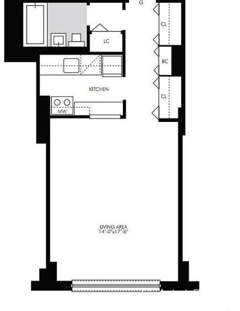 Studio, Kips Bay Rental in NYC for $2,780 - Photo 2